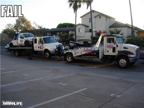 car trouble,failboat,g rated,meta,two trucks