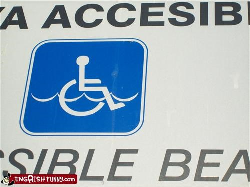 handicapped,water