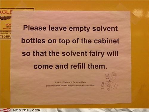 fairy,notes,passive aggressive,signs