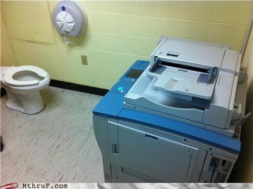 bathroom,Multitasking,printer,whatever