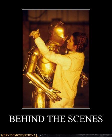 behind the scenes,star wars,C-3PO,lea