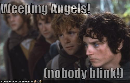 Weeping Angels!  (nobody blink!)
