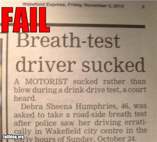 breathalyzer,driving,drunk,dui,failboat,police,Probably bad News