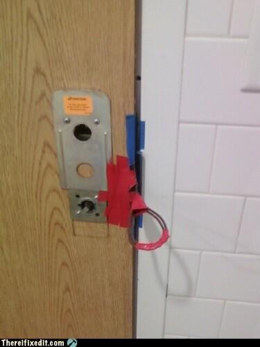cardboard,door,door handle,masking tape,Professional At Work