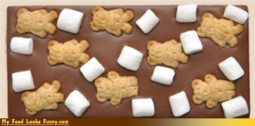 chocolate,chocolate bar,marshmallows,smore,smore-bar,Sweet Treats,teddy grahams