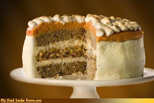 Funny Food Photos - Thanksgiving Dinner Cake