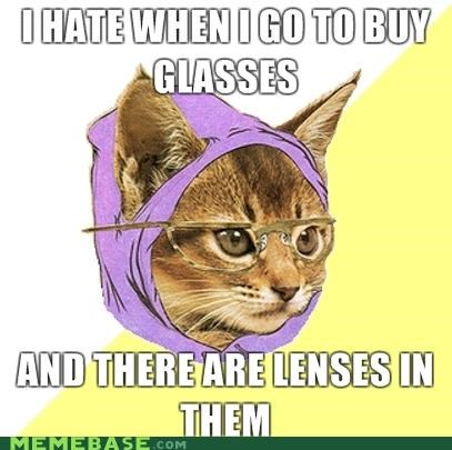 Hipster Kitty: Faux Frames