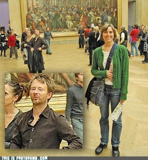 celeb,Celebrity Edition,creep,france,paris,photobomb,radiohead,Thom Yorke