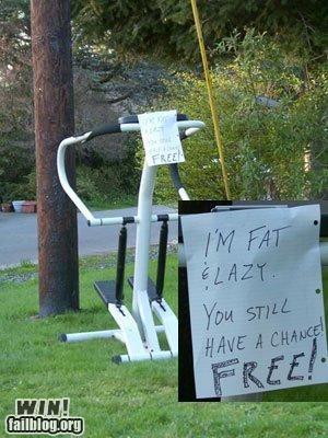 exercise,lazy,note