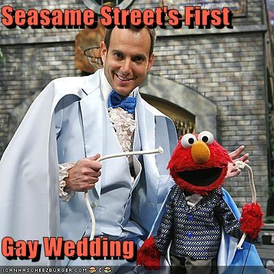 Seasame Street's First  Gay Wedding