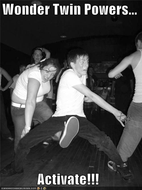 best of week,crotch kick,dancing,derp,nuts,testicles,wonder twins