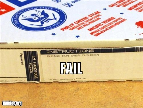 Instructions FAIL