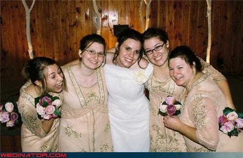 bride,bridesmaids,fashion is my passion,flesh-colored crayons,funny wedding photos,happy bridesmaids,sad dresses,ugly bridesmaid dresses,ugly bridesmaids dresses,ugly dresses,wedding party,wtf