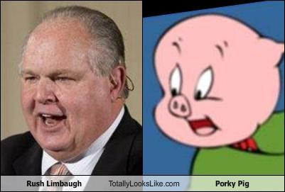 Rush Limbaugh Totally Looks Like Porky Pig