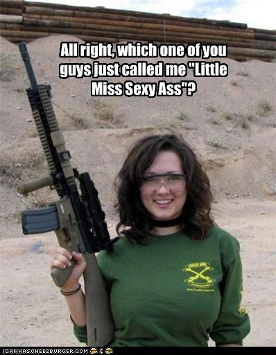 """All right, which one of you guys just called me """"Little Miss Sexy Ass""""?"""