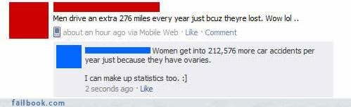 battle of the sexes,driving,status updates,witty comebacks