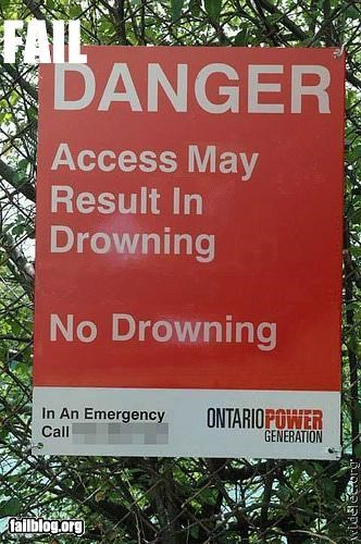 Sign fail: Danger