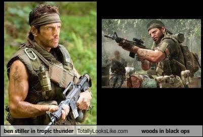 ben stiller in tropic thunder Totally Looks Like woods in black ops
