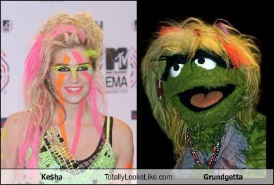Ke$ha Totally Looks Like Grundgetta