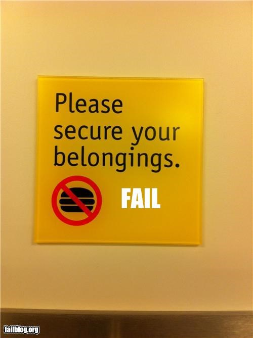 baggage,belongings,burgers,failboat,oddly specific,secure