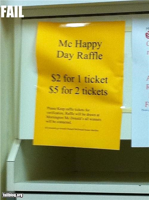 Raffle ticket fail