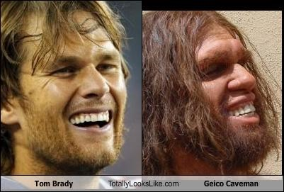 Tom Brady Totally Looks Like Geico Caveman