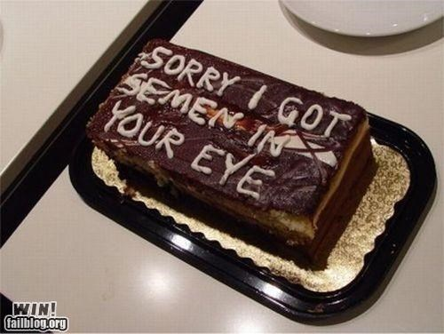 Cake Apology WIN