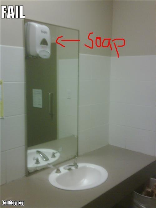 bad idea,bathroom,failboat,planning,soap,washing your hands