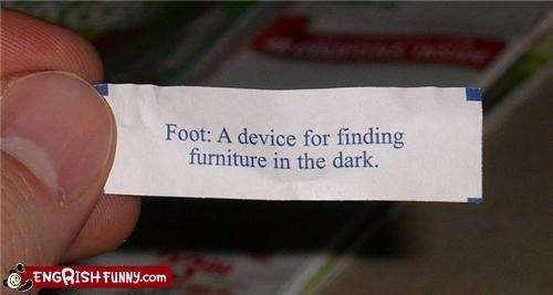 Fortune Cookie Friday! - I Always Use My Shin