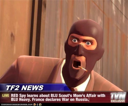 Spy from TF2 making a shocked face.
