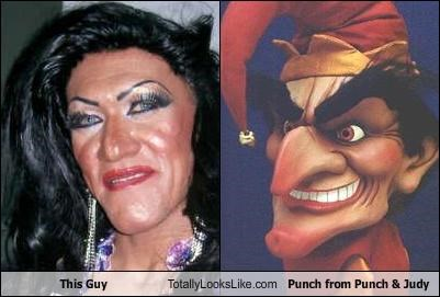 This Guy Totally Looks Like Punch from Punch & Judy