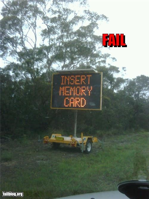 Road Sign Fail