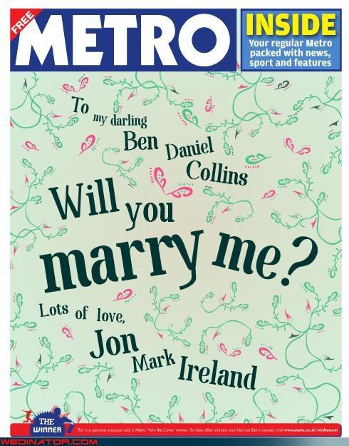 crazy groom,funny wedding news,funny wedding photos,groom,marriage proposal,metro contest proposal,metro win the cover proposal,News and Trends,surprise engagement,surprise,sweet marriage proposal,viral news,were-in-love