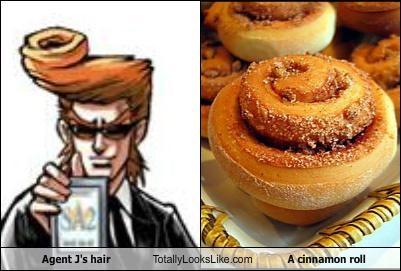 agent j,anime,cinnamon roll,food