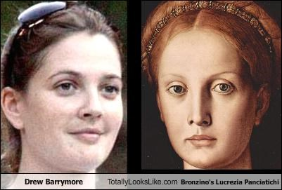 Drew Barrymore Totally Looks Like Bronzino's Lucrezia Panciatichi