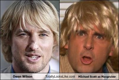Owen Wilson Totally Looks Like MIchael Scott as Macgruber