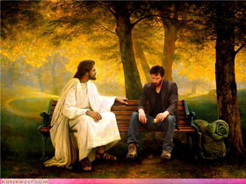 Can Jesus cheer Keanu up?