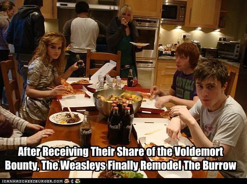 After Receiving Their Share of the Voldemort Bounty, The Weasleys Finally Remodel The Burrow