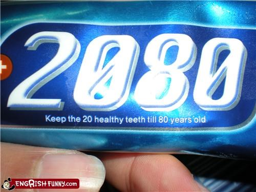 I have more than 20 teeth, but thanks anyway