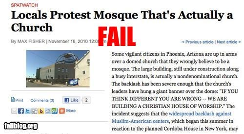 Mosque Protest Fail