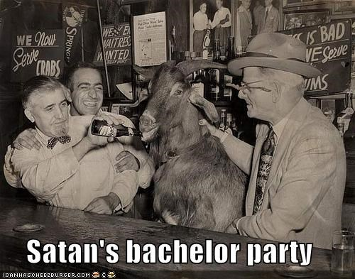 bar,beer,drink,goat,Party,satan