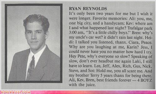 Ryan Reynolds: Yearbook Flashback