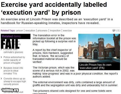 failboat,fatal error,prison,Probably bad News,spelling,yards