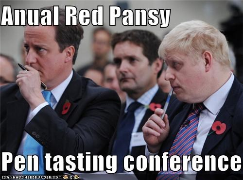 Anual Red Pansy  Pen tasting conference