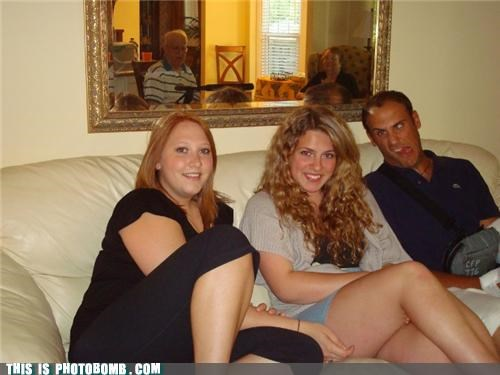 couch,family,family issues,mirror,photobomb,tender moments