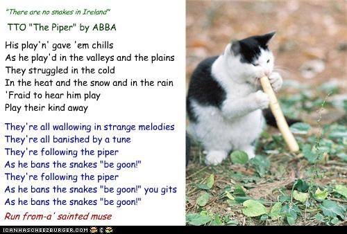 """No Snakes In Ireland"" (TTO ""The Piper"" by ABBA)"
