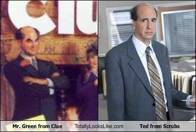 Mr. Green from Clue Totally Looks Like Ted from Scrubs