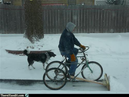 bike,snow,snowplow,winter