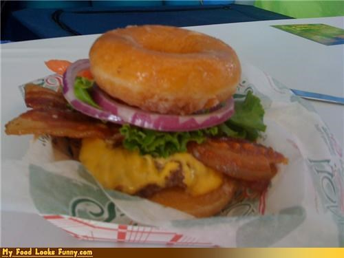 Funny Food Photos - Krispy Kreme Bacon Cheeseburger