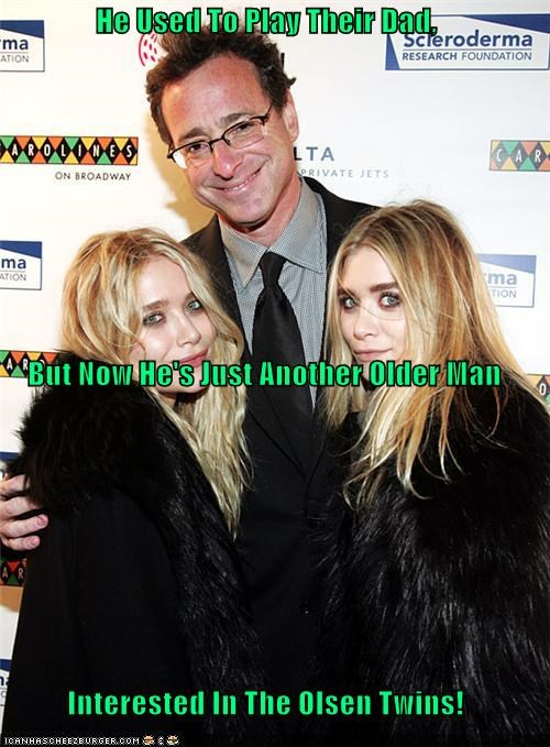 He Used To Play Their Dad,  But Now He's Just Another Older Man Interested In The Olsen Twins!